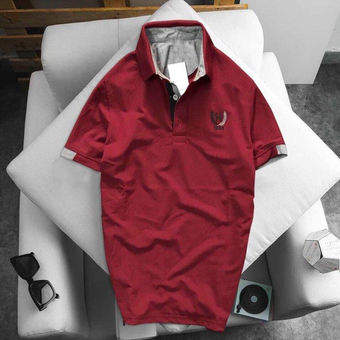 Áo thun nam logo bông lúa xanh đỏ