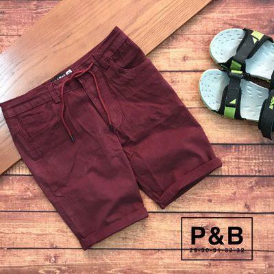 Sỉ sll quần short nam kaki có phần lưng xài nịt kết hợp dây rút đỏ