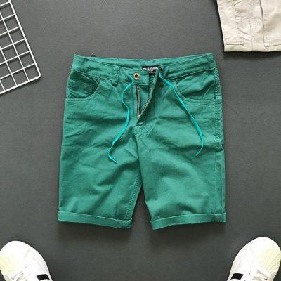 Sỉ sll quần short 4 túi kiểu thắt lưng phối dây rút xanh lá
