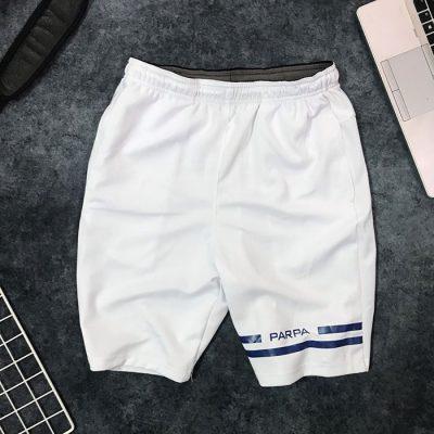 Sỉ quần short nam thun thể thao Parpa với đường kẻ ống phải trăng